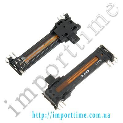 100K B 6pin вертикальный,ползунковый стерео a=45mm