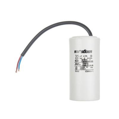 Конденсатор пусковой CBB60 35uF 450VAC 5% 99.3x48.4mm с проводом